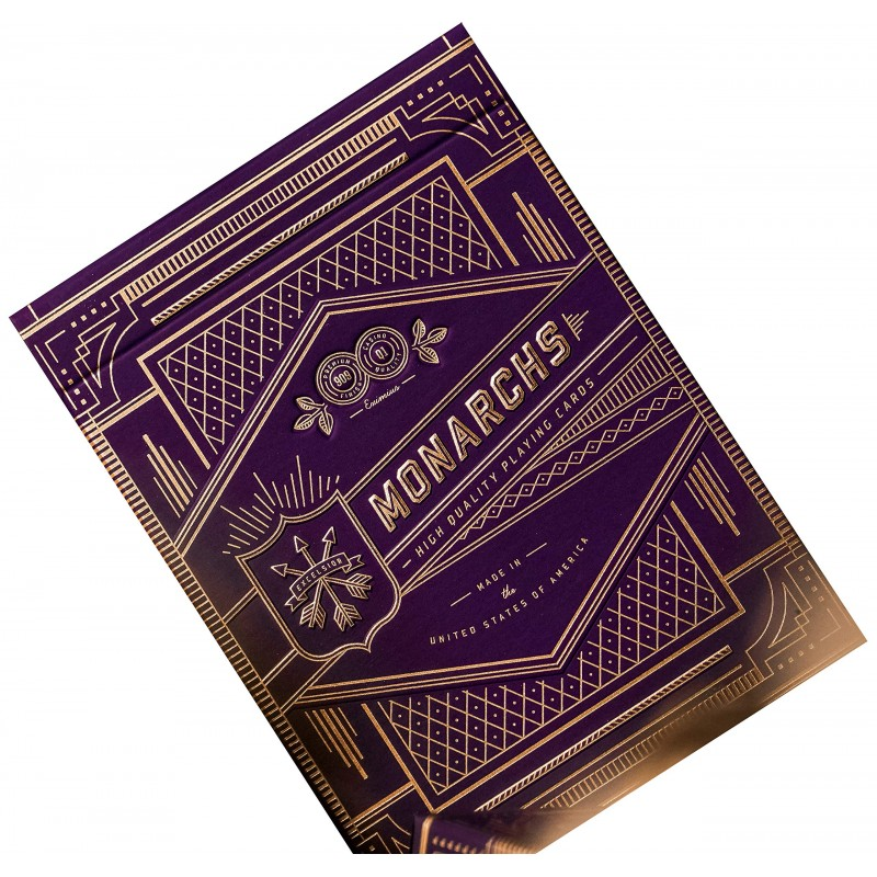 Prenium Playing Cards Monarchs Purple x 54 cartes Theory11