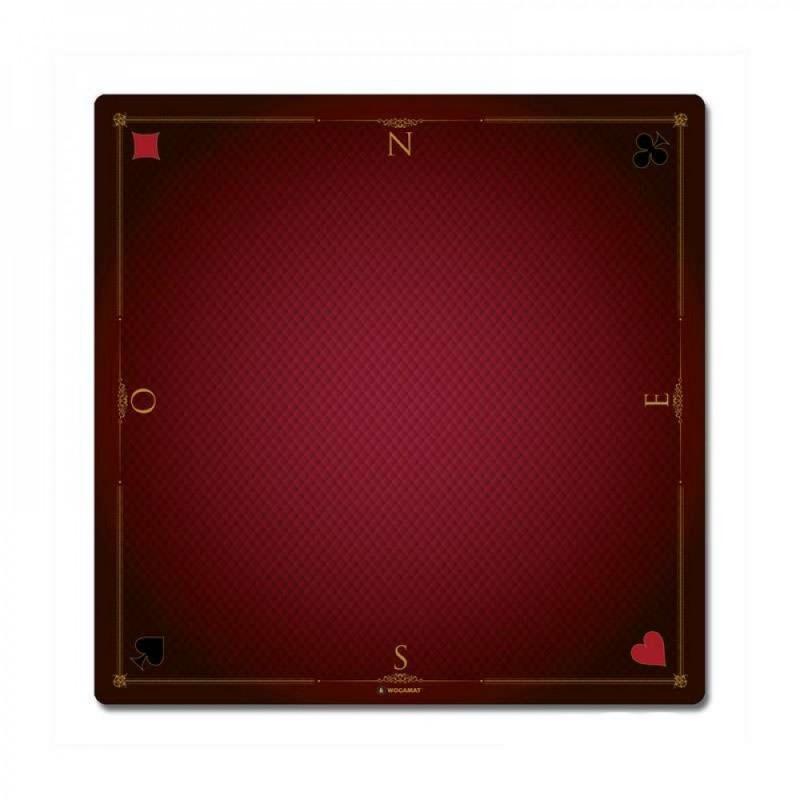 Tapis Cartes Prestige 60x60 rouge Fr Wogamat