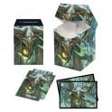 Deck Box Magic Commander 2021 100+ Willowdusk Essence Seer avec sleeves FR Ultra Pro
