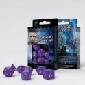 Qworkshop Set de Dés Classic RPG Violet et Jaune x 7 Dice set
