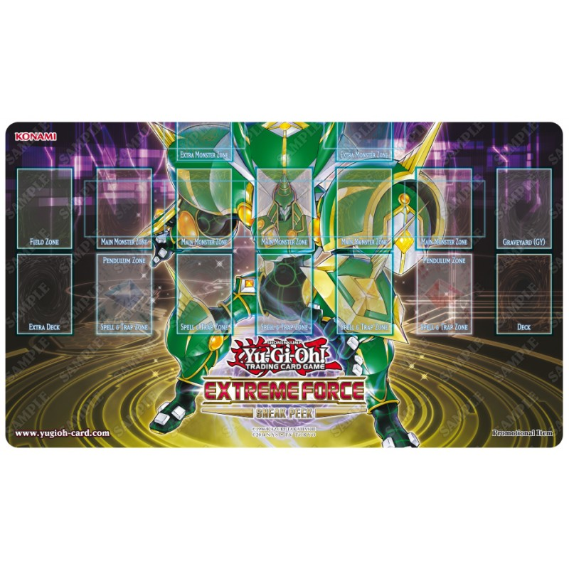Playmat Tapis Yu Gi Oh Sneak Peek Extreme Force 61x36 Cm En Mousse
