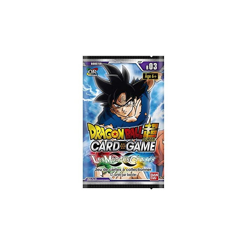Dragon Ball Z Super Card Game Serie 3 Les mondes Croises Booster FR Booster