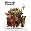 Héros & Dragons : Dossier de personnage FR Black Book Edition