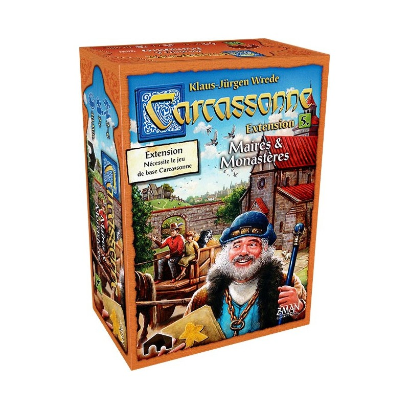 Carcassonne Extension n°5 Maires et monasteres FR z man games