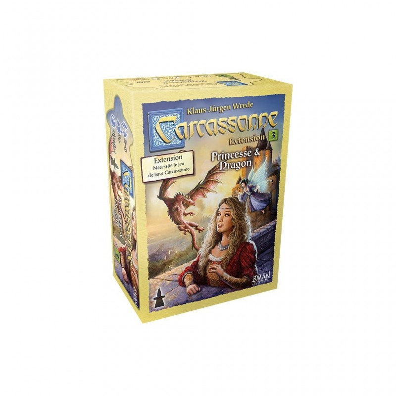 Carcassonne Extension n°3 : Princesse et Dragon FR Filosofia