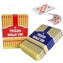 Texas Hold'em Jumbo Index x54 cartes 100% Plastique Rouge