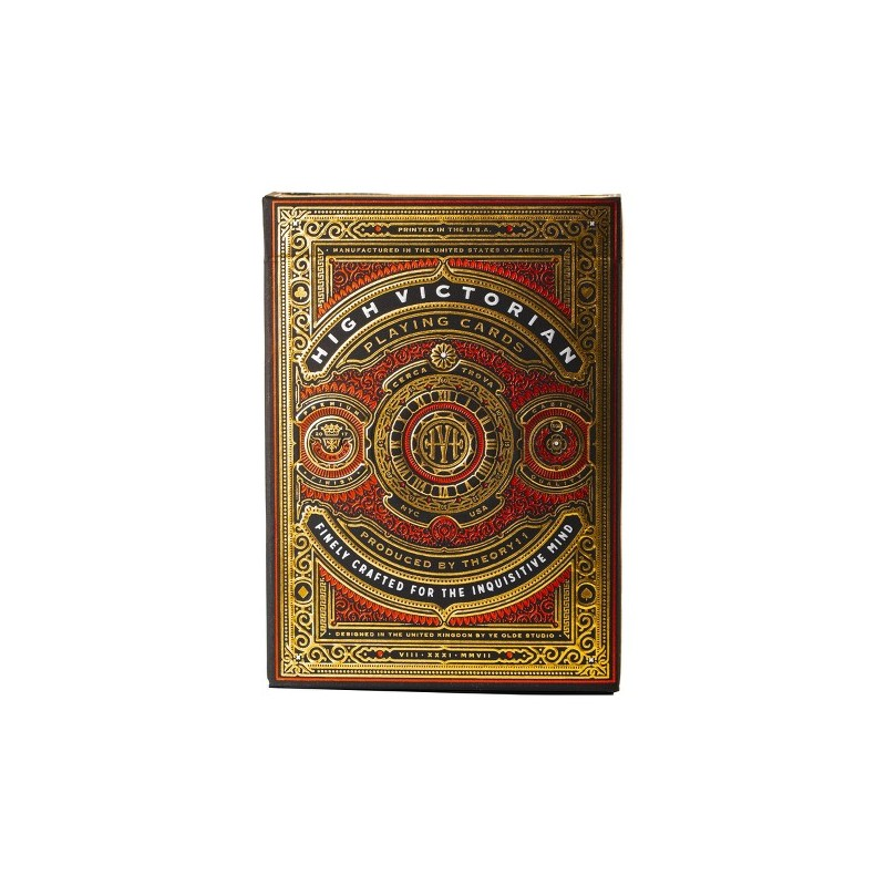 Prenium Playing Cards High Victorian Red x 54 cartes Theory11