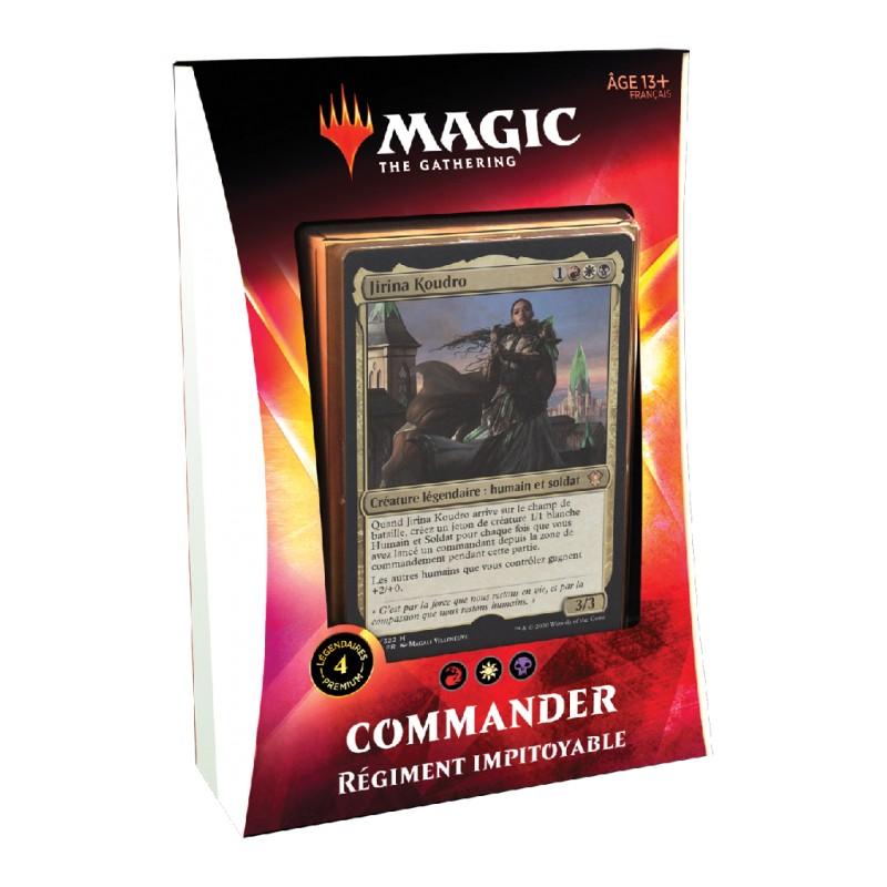 """Magic Commander 2020 """"Régiment Impitoyable"""" Rouge/Blanc/Noir FR MTG The gathering"""
