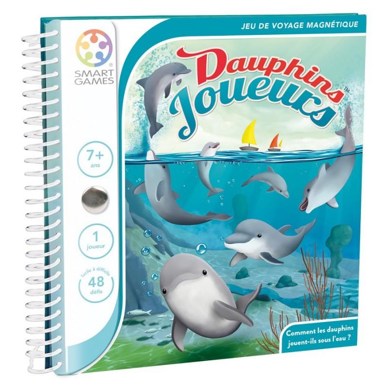 Dauphins Joueurs  Livre Fr smart games Magnetic Travel
